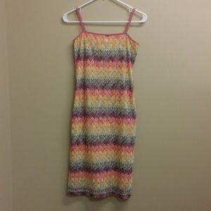 *3/$20* Jonathan Martin rainbow midi sheath dress